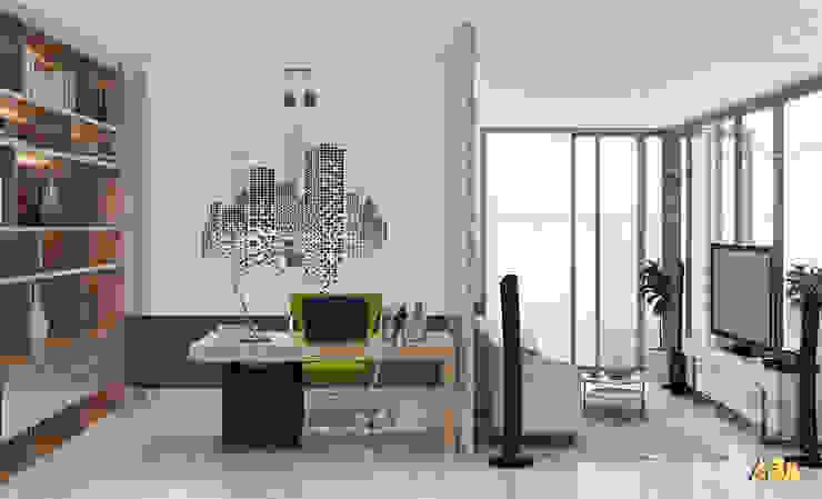 nội thất biệt thự phố Q2 Phòng học/văn phòng phong cách hiện đại bởi AcilB Design Hiện đại