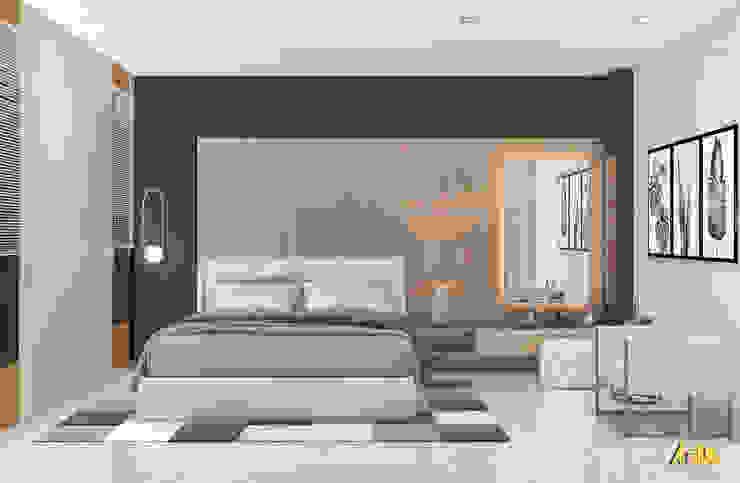 nội thất biệt thự phố Q2 Phòng ngủ phong cách hiện đại bởi AcilB Design Hiện đại