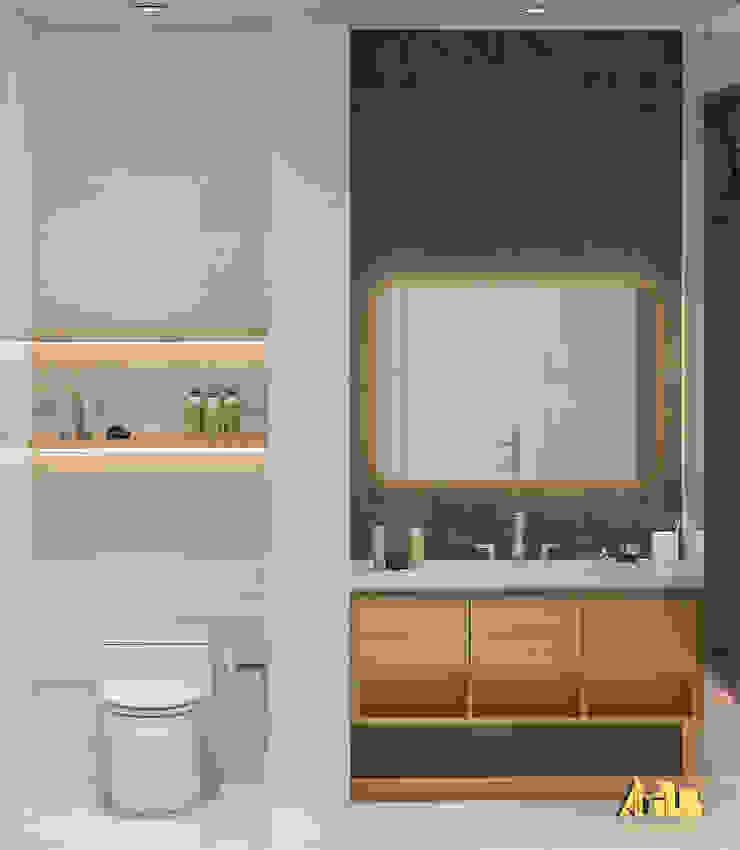 nội thất biệt thự phố Q2 Phòng tắm phong cách hiện đại bởi AcilB Design Hiện đại