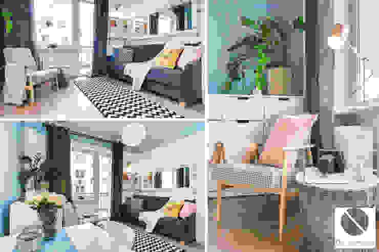 Scandinavian style living room by DoMilimetra Scandinavian