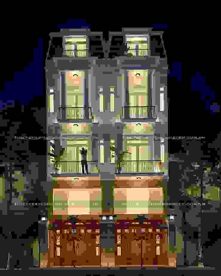 Thiết kế biệt thự phố 5 tầng đẹp tân cổ điển bởi Công ty cổ phần tư vấn kiến trúc xây dựng Nam Long