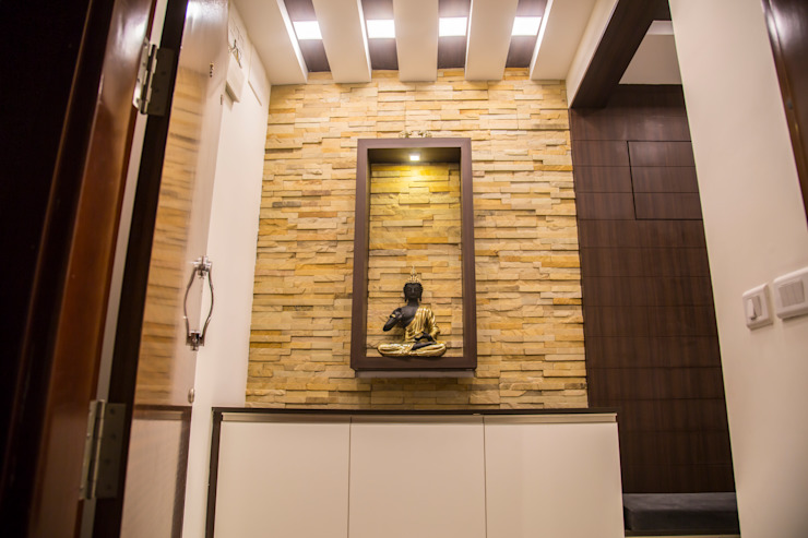3BHK Contemporary Home Modern Corridor, Hallway and Staircase by Modulart Modern