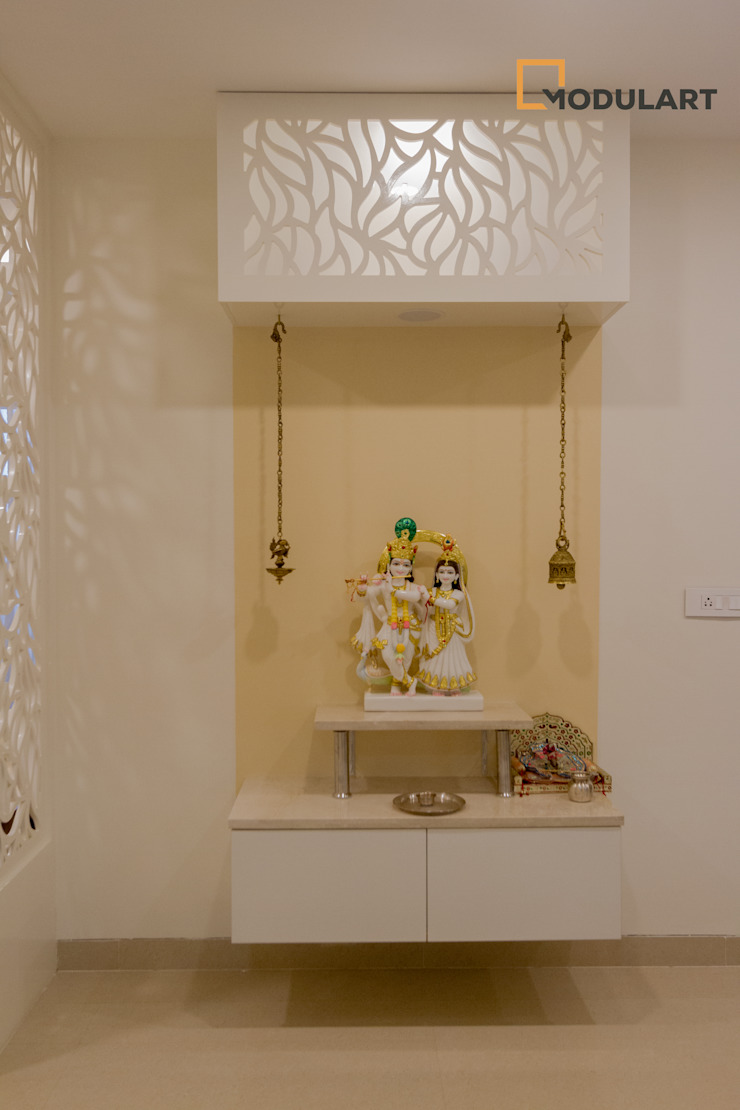 Adarsh Palm Retreat—3BHK Modern Dining Room by Modulart Modern