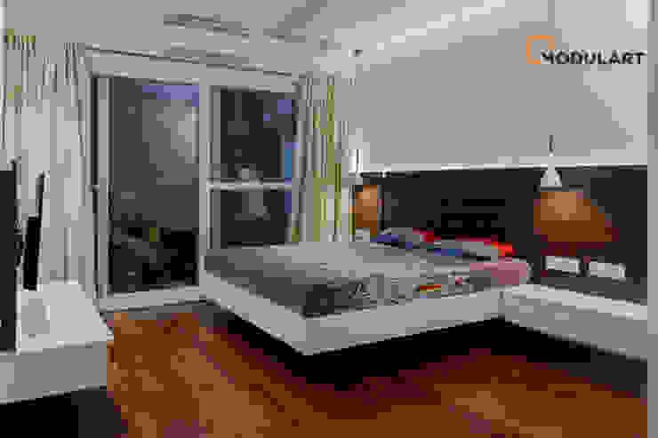 Adarsh Palm Retreat—3BHK Modern Bedroom by Modulart Modern