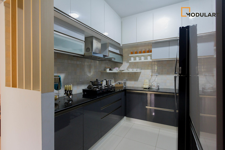 2BHK Modern Home Modern Kitchen by Modulart Modern