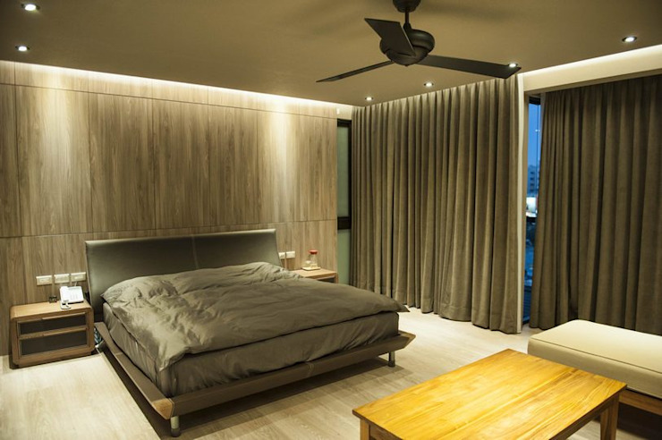 臥房 Modern style bedroom by 勻境設計 Unispace Designs Modern