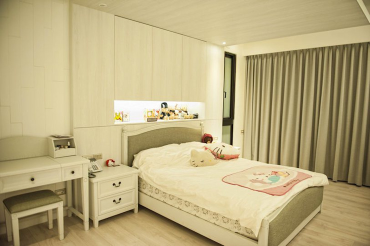 女孩房 Country style bedroom by 勻境設計 Unispace Designs Country