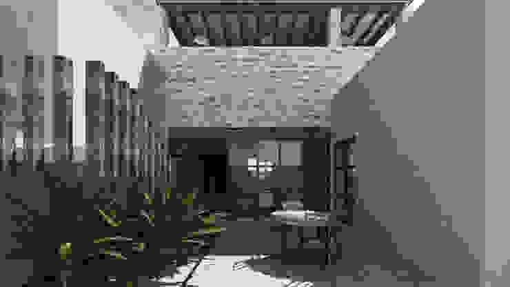 SAHAI UMA Balcones y terrazas rústicos de Mouret Arquitectura Rústico