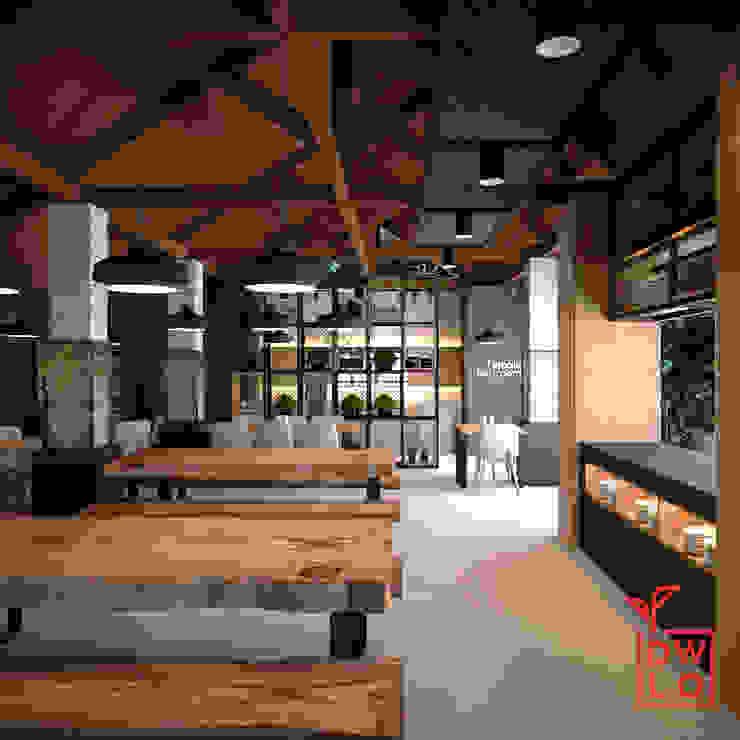Mudita Riverside Gastronomi Gaya Industrial Oleh Dwello Design Industrial Kayu Lapis
