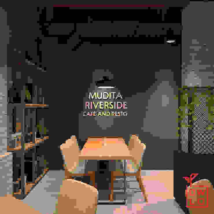 Mudita Riverside Gastronomi Gaya Industrial Oleh Dwello Design Industrial Kayu Wood effect