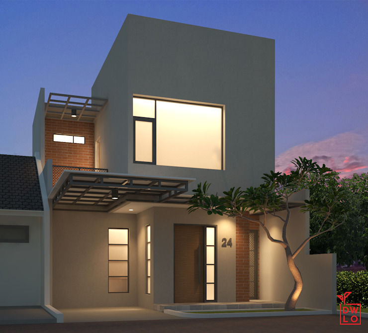 D&A House Cimanggis Oleh Dwello Design Modern Batu Bata