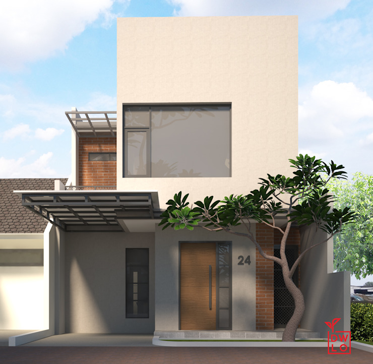 D&A House Cimanggis Rumah Modern Oleh Dwello Design Modern Batu Bata
