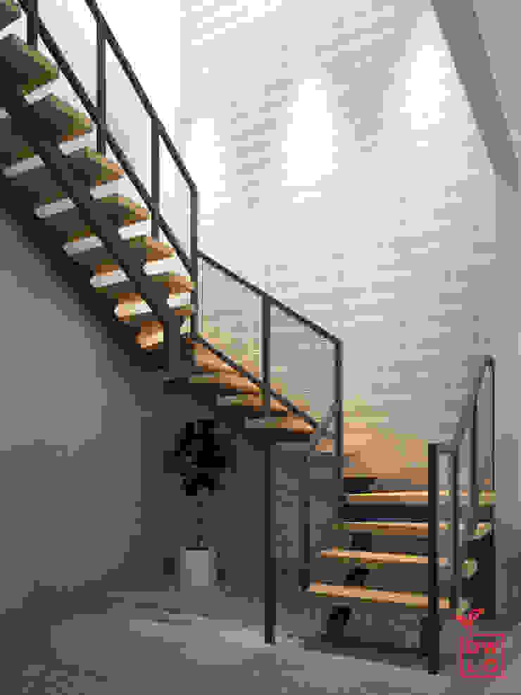 D&A House Cimanggis Oleh Dwello Design Industrial Kayu Wood effect