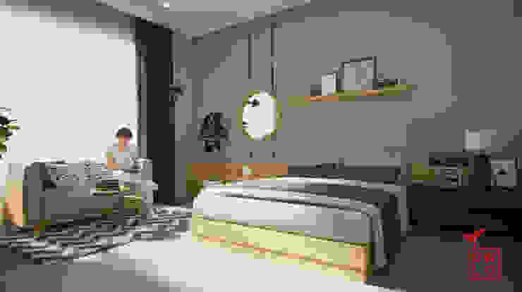D&A House Cimanggis:  Kamar Tidur by Dwello Design