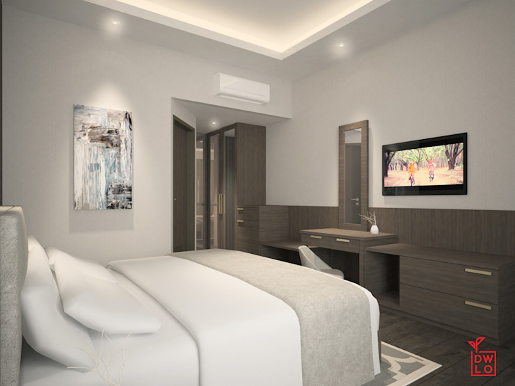 Modern style bedroom by Dwello Design Modern Wood Wood effect