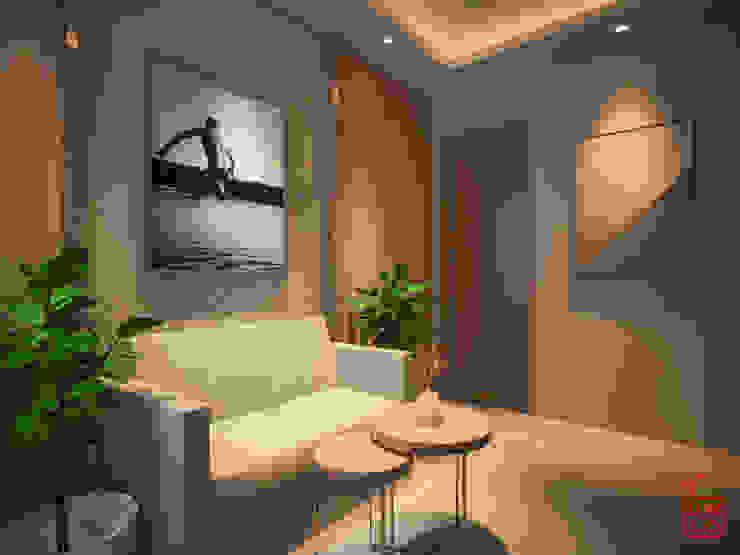 Sangkan Resort Aquapark Ruang Keluarga Modern Oleh Dwello Design Modern Kayu Lapis