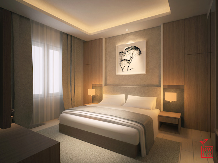 Modern style bedroom by Dwello Design Modern Plywood