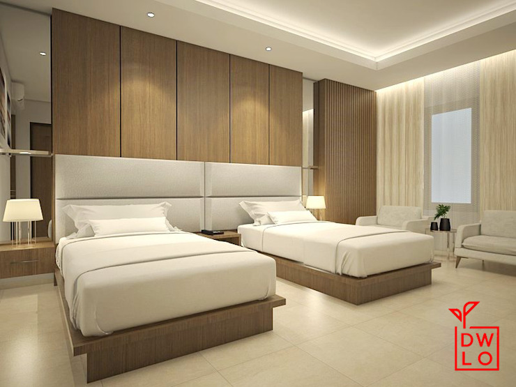 Modern style bedroom by Dwello Design Modern