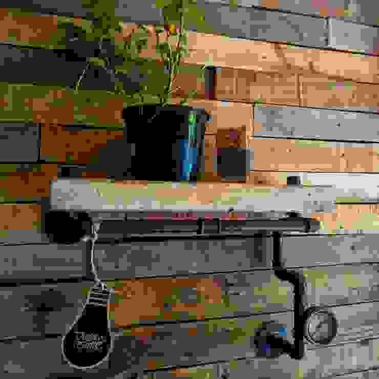 Lamparas Vintage Vieja Eddie Living roomShelves Iron/Steel Black