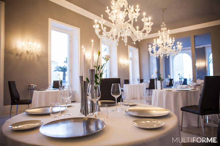 Crystal Chandeliers and Murano Chandeliers for Luxury Hotel in Sanremo Гостиницы в эклектичном стиле от MULTIFORME® lighting Эклектичный