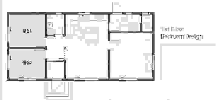 경기 안성 죽장리 주택: 윤성하우징의 현대 ,모던