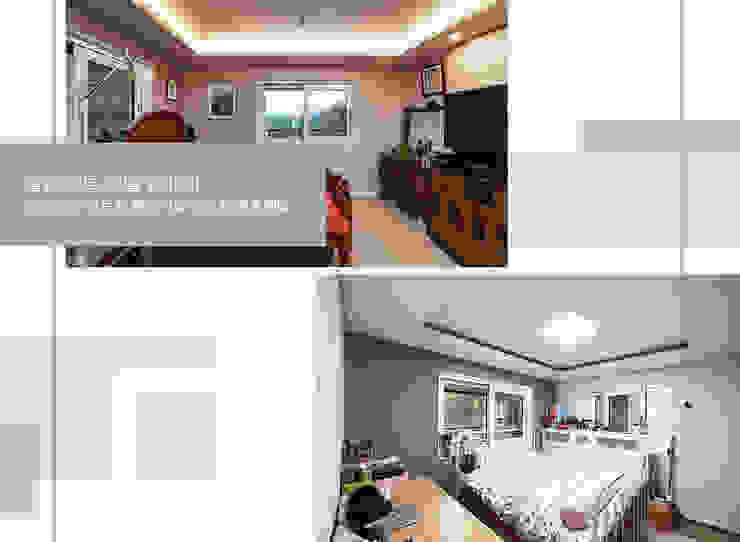 경기 안성 죽장리 주택 모던스타일 거실 by 윤성하우징 모던