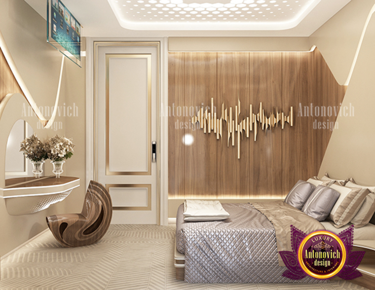 Superb Striking Bedroom Design by Luxury Antonovich Design