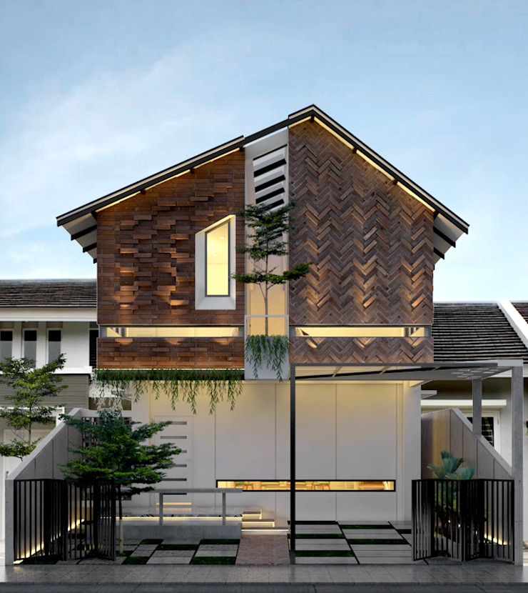 TSforTC House Abil Architect Rumah tinggal Batu Bata White