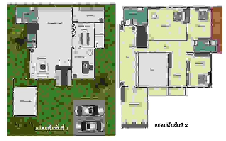 Floor Plan โดย บริษัท พี นัมเบอร์วัน ดีไซน์ แอนด์ คอนสตรัคชั่น จำกัด โมเดิร์น