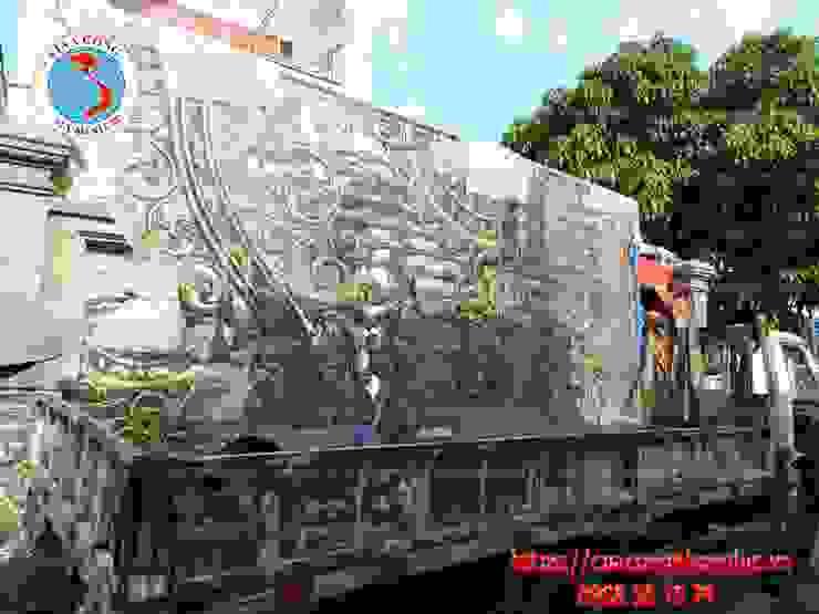 Công trình cổng nhôm đúc khu đô thị City Land: Châu Á  by Công Ty TNHH Đúc Hợp Kim Nhôm Vi Na Cổng, Châu Á