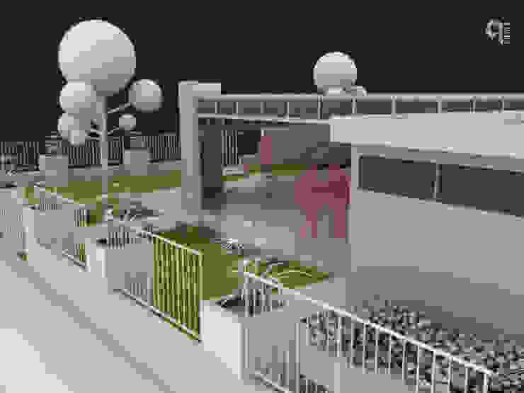 9 Viento Arquitectos Modern Terrace Concrete White
