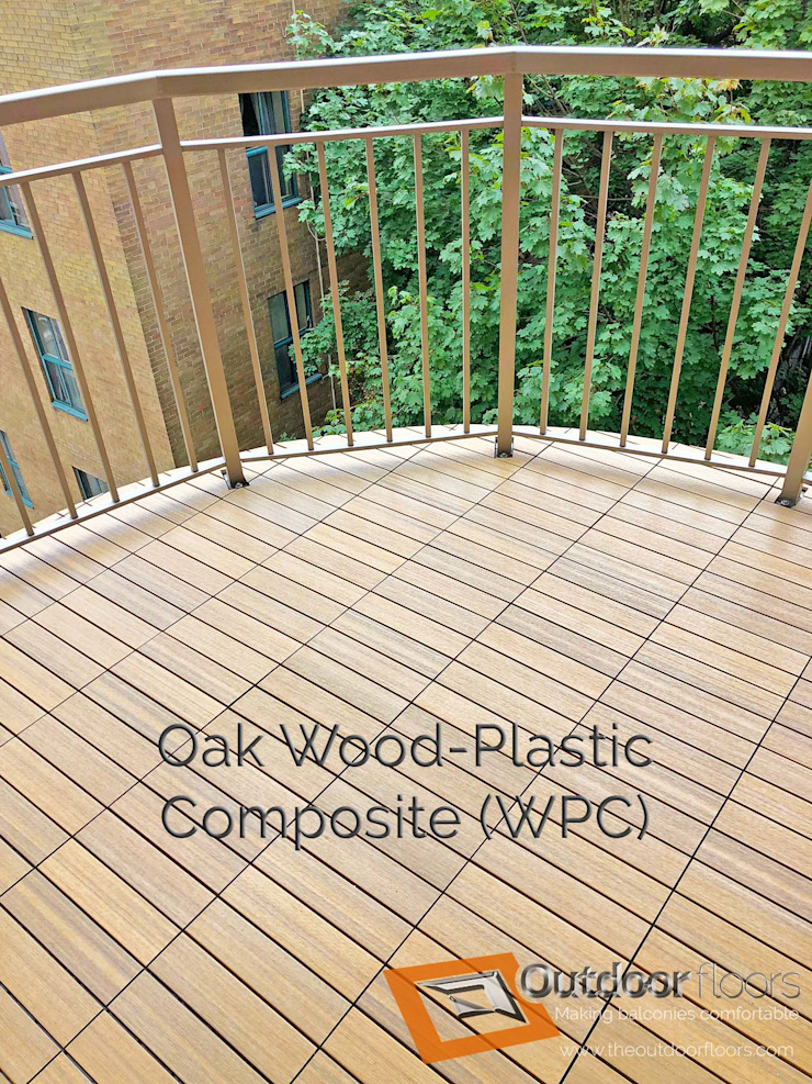Oak WPC Balcony in Toronto by Outdoor Floors Toronto Country Wood-Plastic Composite