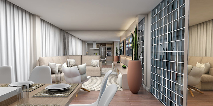 Projeto 3D por Samantha Sato Designer de Interiores