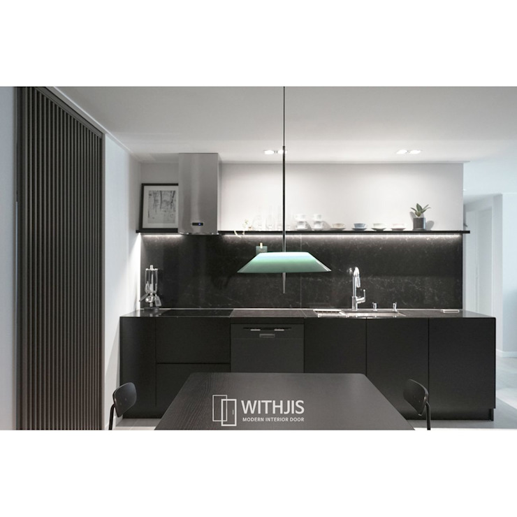 ALU-SD, 1SD(슬라이딩도어1, 상부구동형) 모던스타일 다이닝 룸 by WITHJIS(위드지스) 모던 알루미늄 / 아연
