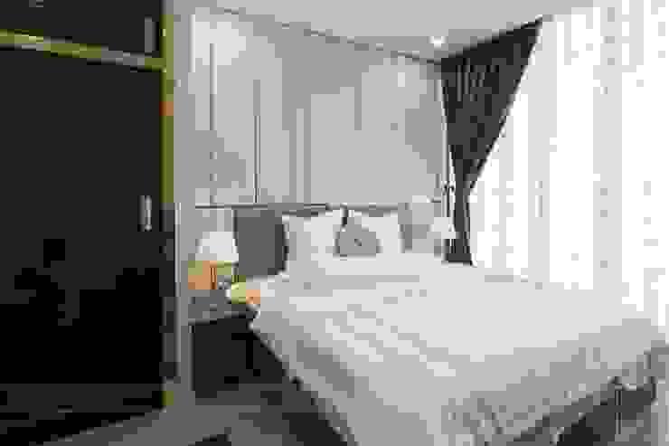 THỰC TẾ CĂN HỘ VINHOMES GOLDEN RIVER – 3-Bedroom Apartment Phòng ngủ phong cách hiện đại bởi ICON INTERIOR Hiện đại