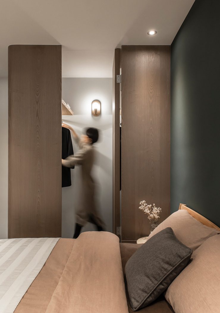 room 湜湜空間設計 更衣室 Wood effect