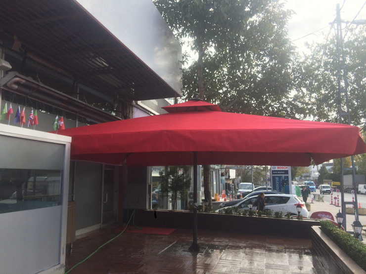 Akaydın şemsiye 前院 鋁箔/鋅 Red