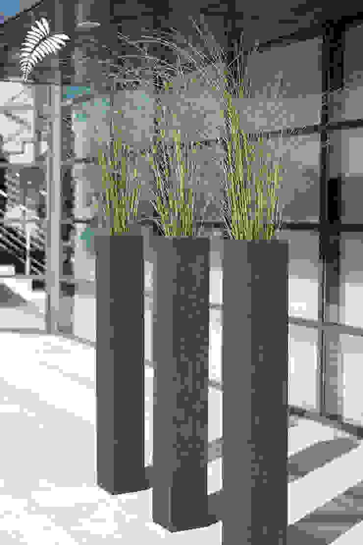 Bepflanzung mit Feinbeton Gefäßen: modern  von arts&more,Modern Beton