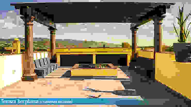 VillaSi Construcciones ระเบียง, นอกชาน
