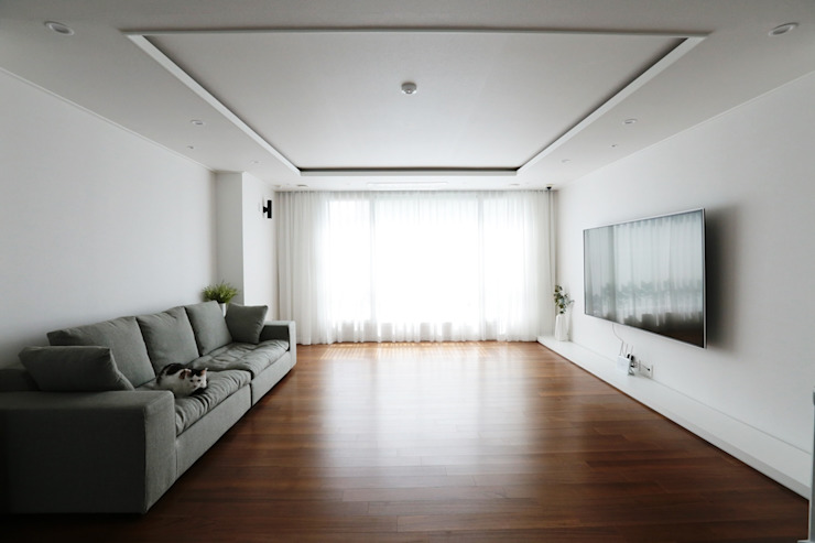 단순한 것이 아름답다_판교힐스테이트인테리어 더집디자인 (THEJIB DESIGN) 모던스타일 거실
