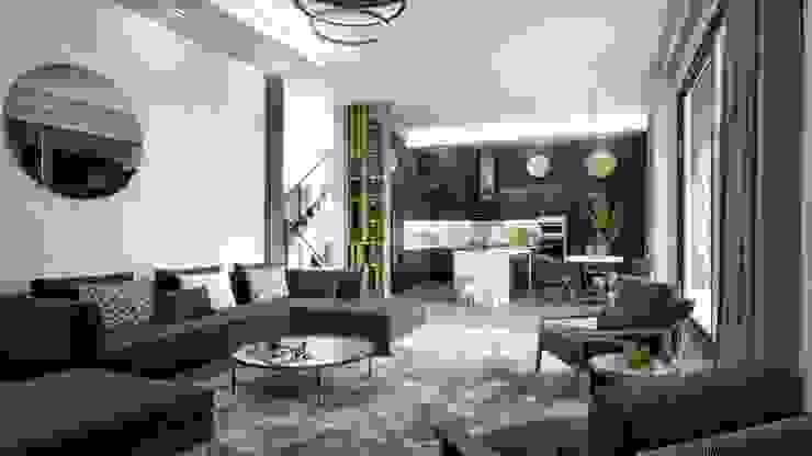 Mersin Villa Lotus Mimarlık/Architecture Modern Multimedya Odası