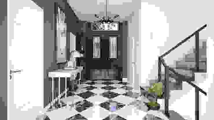 Mersin Villa Modern Koridor, Hol & Merdivenler Lotus Mimarlık/Architecture Modern