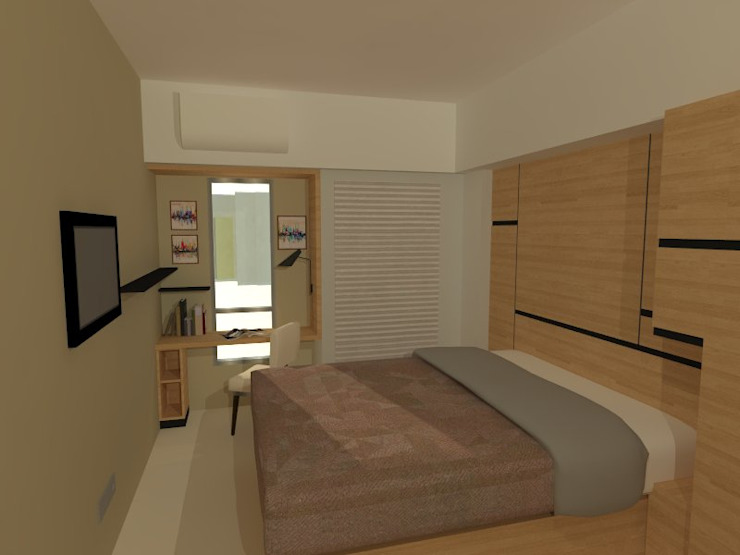 Minimalist bedroom by Internodec Minimalist