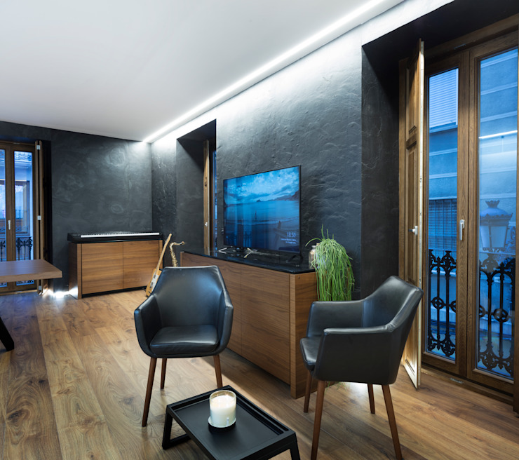 Eseiesa Arquitectos Minimalist living room