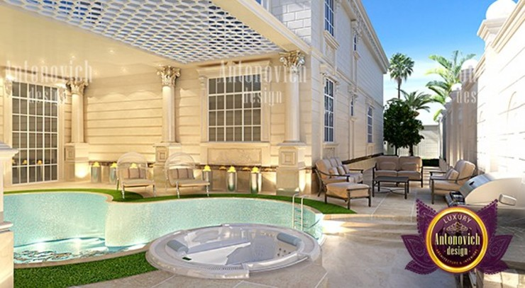 Personalized Pool and Exterior Design by Luxury Antonovich Design