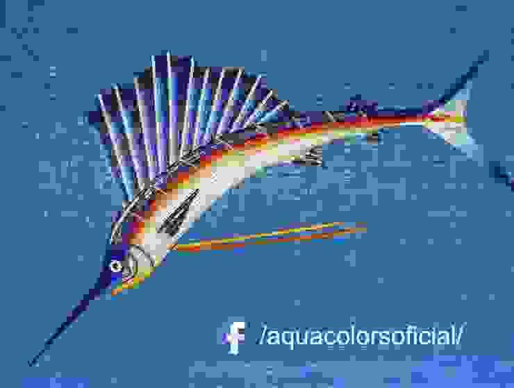 F-01-170 Pez Vela De Mosaico Veneciano Aquacolors / Moretti A&D Piscinas