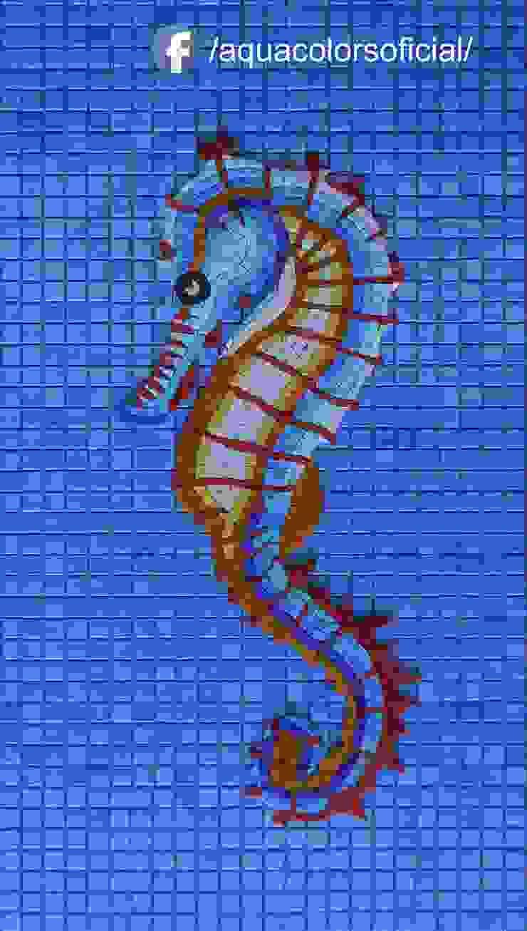 F-05-70C Caballito De Mar Varios Colores De Mosaico Veneciano Aquacolors / Moretti A&D Piscinas