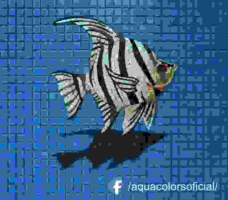 F-13-40 Pez Cebra De Mosaico Veneciano Aquacolors / Moretti A&D Piscinas