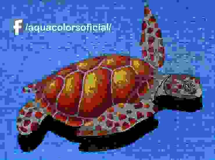 F-06R-123-D Tortuga Roja De Mosaico Veneciano Aquacolors / Moretti A&D Piscinas