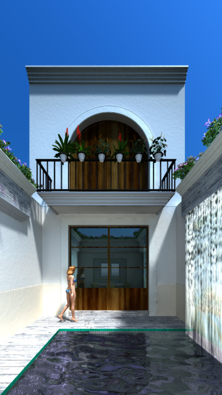 by SG Huerta Arquitecto Cancun Colonial Tiles